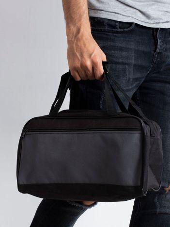 Szara męska torba na ramię