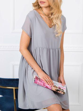 Szara sukienka Sarah RUE PARIS