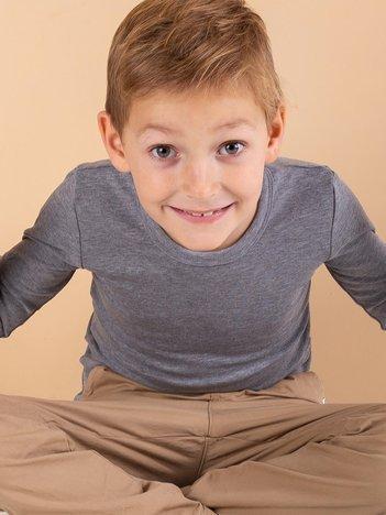 Szara termoaktywna bluzka chłopięca
