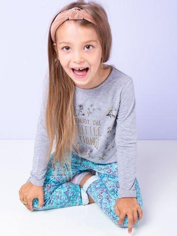 Szara tunika dla dziewczynki z nadrukiem