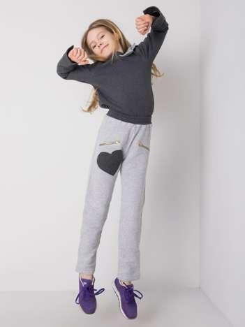 Szare dziewczęce spodnie dresowe DODO KIDS