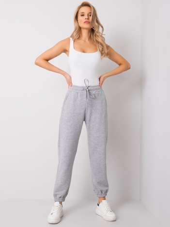 Szare melanżowe spodnie Agueda RUE PARIS