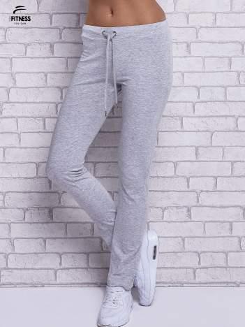 Szare melanżowe spodnie dresowe z prostą nogawką