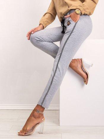 Szare spodnie Bronx
