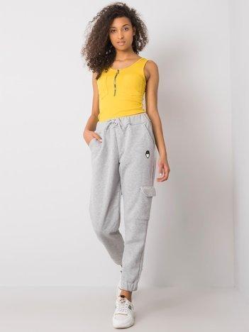 Szare spodnie dresowe z kieszenią Ysela RUE PARIS