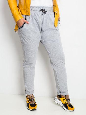 Szare spodnie plus size Savage