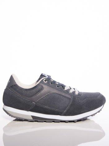 Szare sportowe buty MC ARTHUR ze skórzanymi wstawkami na sprężystej podeszwie