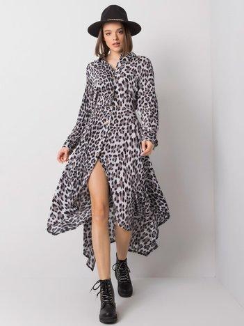 Szaro-czarna sukienka Holly RUE PARIS