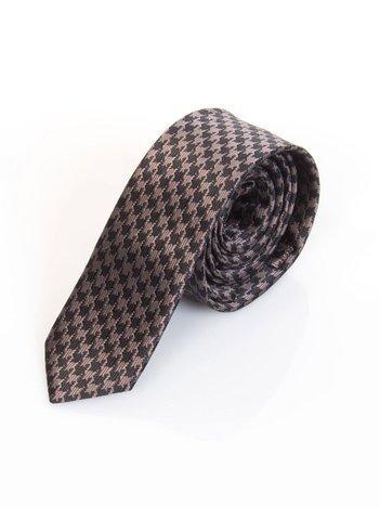 Szaro-czarny krawat w pepitkę
