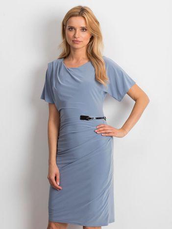 Szaro-niebieska sukienka Freedom