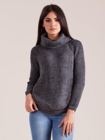 Szary damski sweter golf