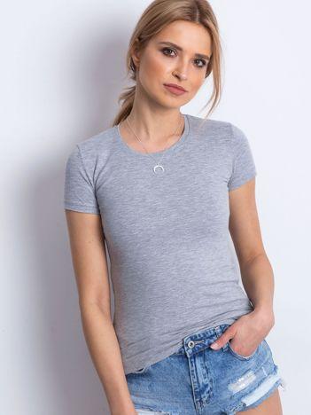 Szary damski t-shirt basic