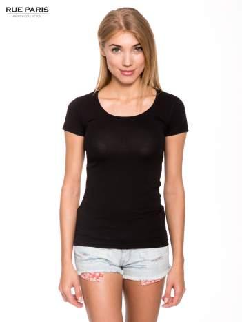 Szary gładki t-shirt