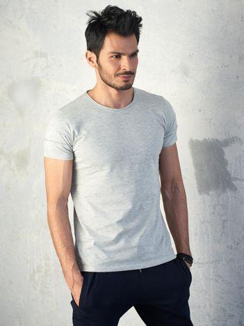 Szary melanżowy t-shirt męski