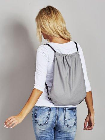 Szary płócienny plecak worek