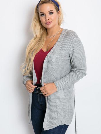 Szary sweter plus size Fluent