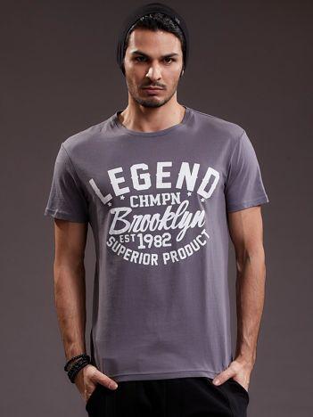 Szary t-shirt męski LEGEND