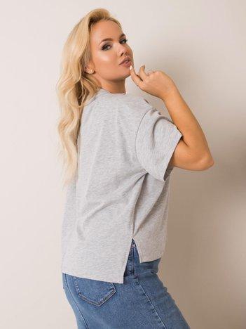 Szary t-shirt plus size Juanita RUE PARIS