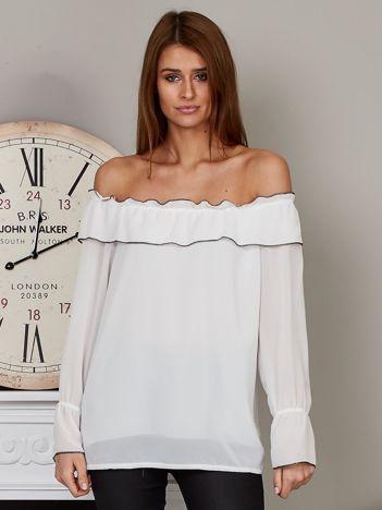 Szyfonowa bluzka hiszpanka biała