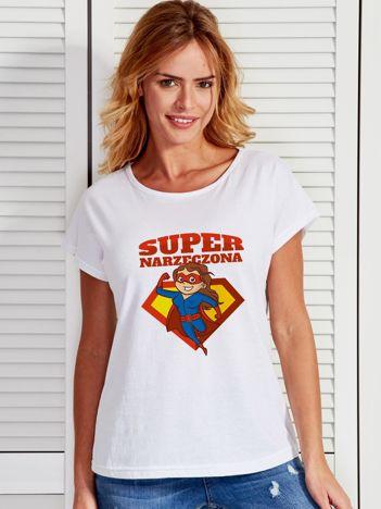 T-shirt biały SUPER NARZECZONA