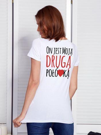 T-shirt biały dla par DRUGA POŁÓWKA