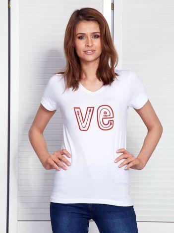 T-shirt biały dla par LOVE
