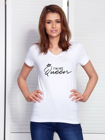 T-shirt biały dla zakochanych QUEEN