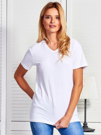 T-shirt damski basic biały