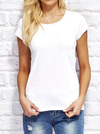 T-shirt damski z surowym wykończeniem biały