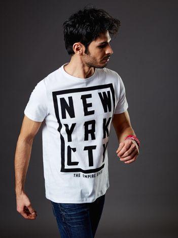 T-shirt męski biały New York City