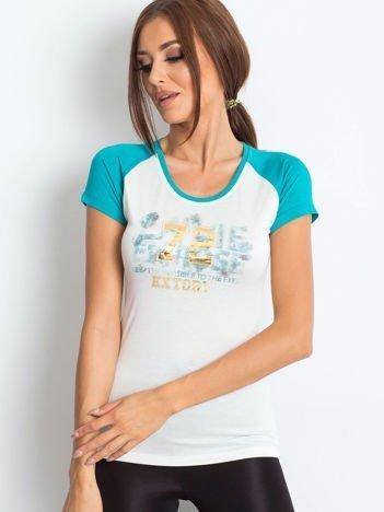T-shirt z liczbą 72 ciemnozielony
