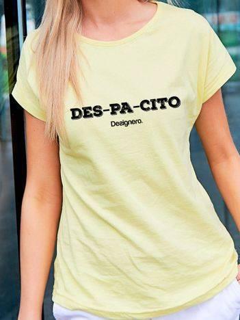 T-shirt z napisem DESPACITO żółty
