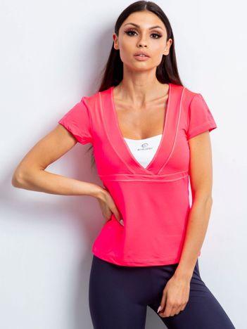 T-shirt z wycięciem na plecach różowy