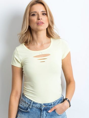 T-shirt żółty cut out