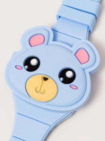 TEDDY BEAR Zamykany Ozdobny Niebieski Zegarek Miś