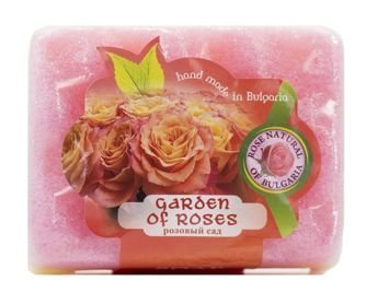 THE ROSE Peelingujące mydło-gąbka Różany Ogród 70 g