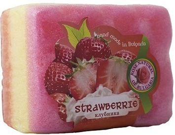 THE ROSE Peelingujące mydło-gąbka Truskawka 70 g