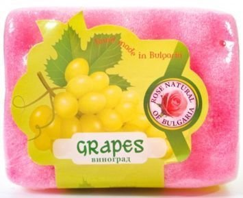 THE ROSE Peelingujące mydło-gąbka Winogrono 70 g