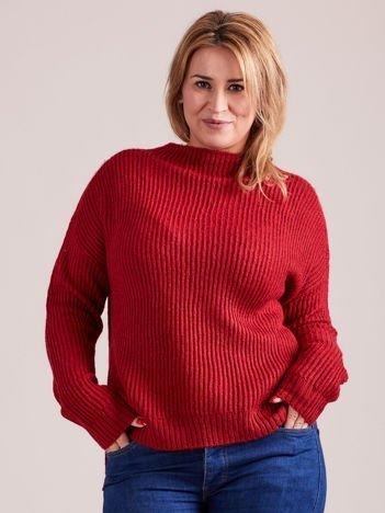 TOM TAILOR Czerwony wełniany sweter o grubszym splocie PLUS SIZE