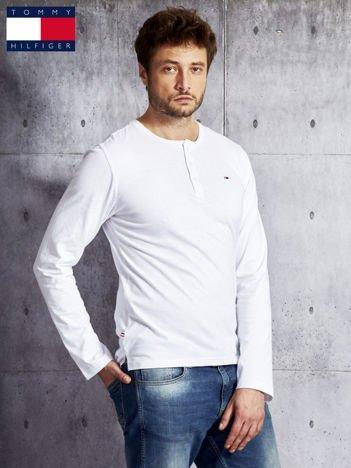 TOMMY HILFIGER Biała bluzka męska z guzikami