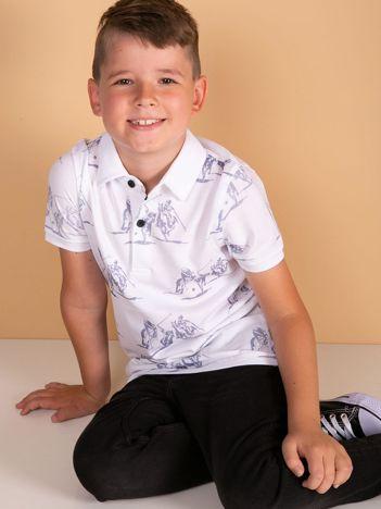 TOMMY LIFE Biała koszulka polo dla chłopca