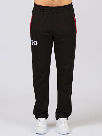 TOMMY LIFE Czarne długie spodnie męskie