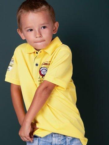 TOMMY LIFE Żółta koszulka polo chłopięca