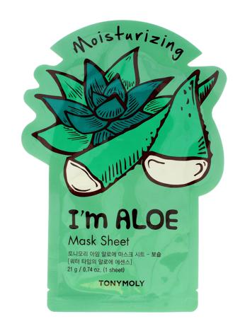 TONY MOLY I'M REAL ALOE Aloesowa koreańska nawilżająca maska w płachcie 21g