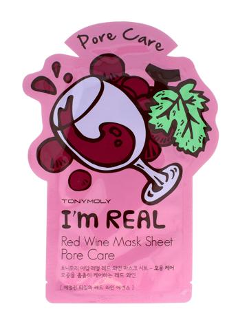 TONY MOLY I'M REAL Red Wine Koreańska oczyszczająca pory maska w płachcie z ekstraktem z czerwonego wina 21g
