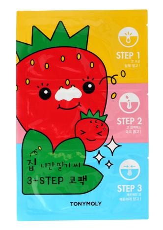 TONY MOLY STRAWBERRY Koreańska 3-etapowa maseczka oczyszczająca na nos 6g