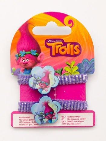 TROLLE Komplet 2 połyskliwych fioletowych gumek-frotek dla dziewczynki