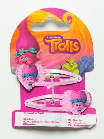 TROLLE Zestaw 2 szt. jasnoróżowych spinek do włosów dla dziewczynki