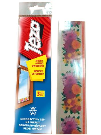 Teza Dekoracyjny Lep na owady (muchy, muszki owocówki) 3 szt.