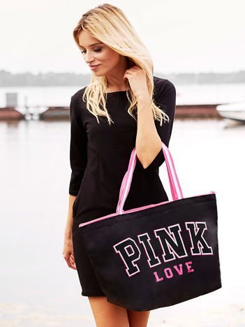 Torba damska PINK LOVE czarna